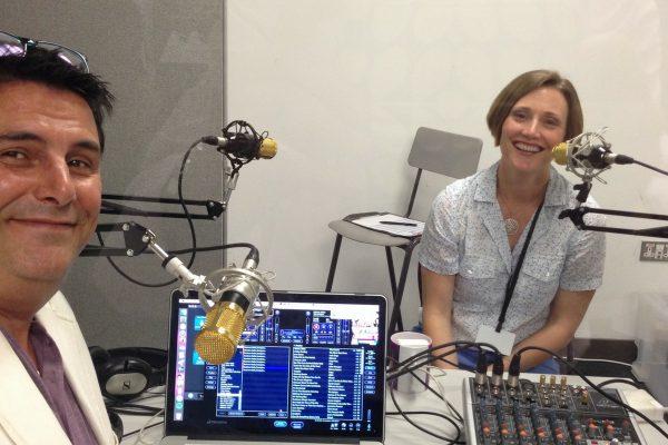 Nicolle with business radio at kingston radio