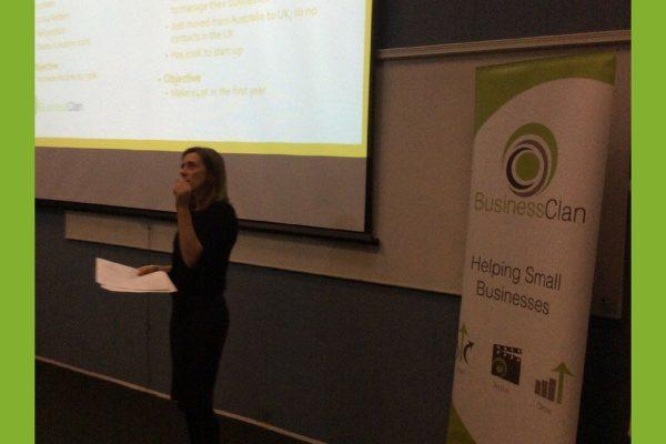 Delia presenting to LSBU