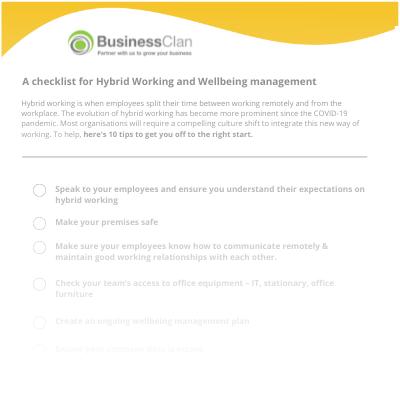 Hybrid working checklist